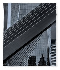 The Oculus And One World Trade Fleece Blanket