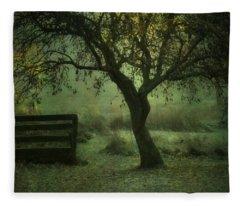The Old Apple Tree Fleece Blanket
