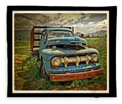 The Blue Classic Ford Truck Fleece Blanket