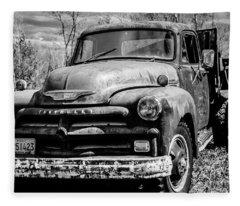 The Old Chevyolet Truck Fleece Blanket