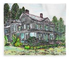The Old Farm House Fleece Blanket