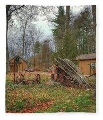 The Old Field Tools Fleece Blanket