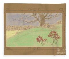 The Old Gully Tree Fleece Blanket