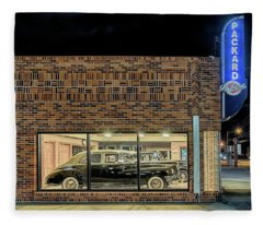 The Old Packard Dealership Fleece Blanket
