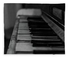 The Old Piano Fleece Blanket