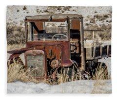 The Old Truck Fleece Blanket