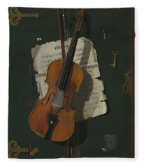 The Old Violin Fleece Blanket