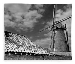 The Old Windmill Fleece Blanket