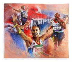 The Olympics Night Of Gold Fleece Blanket