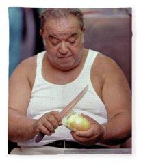 The Onion Man Fleece Blanket