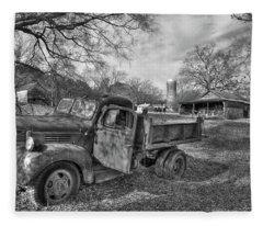 The Open Door Boswell Farm 1947 Dodge Dumb Truck Fleece Blanket