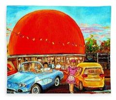 The Orange Julep Montreal Fleece Blanket