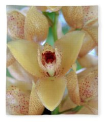 The Orchid Speaks Fleece Blanket