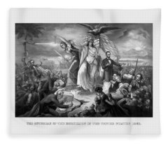 The Outbreak Of The Rebellion In The United States Fleece Blanket