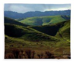 The Outskirts Of San Luis Reservoir, California Fleece Blanket
