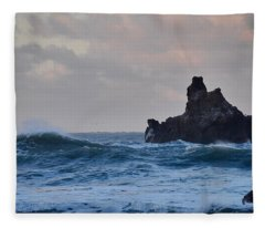The Pacific Ocean Fleece Blanket