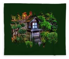 The Pagoda  Fleece Blanket