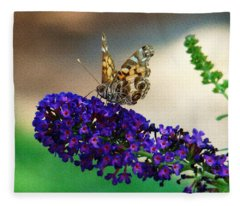 The Painted Lady Fleece Blanket