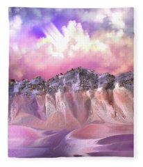 The Painted Sand Rocks Fleece Blanket