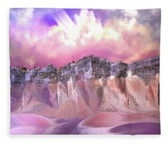 The Painted Sand Rocks Fleece Blanket