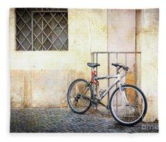 The Pale Bicycle Fleece Blanket