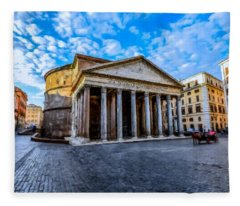 The Pantheon Rome Fleece Blanket