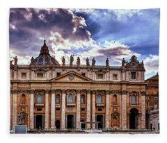 The Papal Basilica Of Saint Peter Fleece Blanket