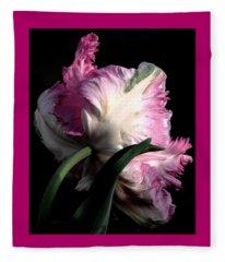 The Parrot Tulip Queen Of Spring Fleece Blanket