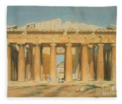 The Parthenon Fleece Blanket