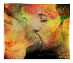 The Passion Of A Kiss 1 Fleece Blanket