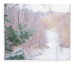 The Path Untraveled  Fleece Blanket