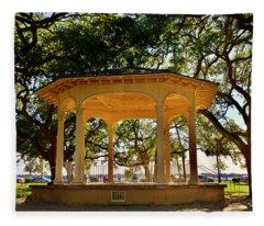 The Pavilion At Battery Park Charleston Sc  Fleece Blanket