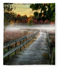 The Peaceful Path Fleece Blanket
