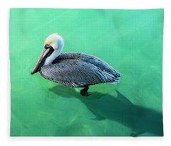 The Pelican And The Shark Fleece Blanket
