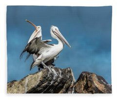 The Pelicans Fleece Blanket