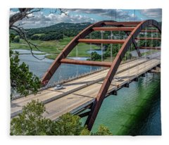 The Pennybacker Bridge Fleece Blanket