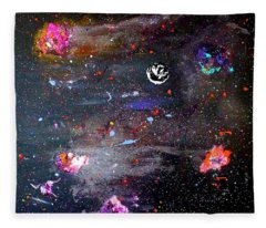Fleece Blanket featuring the painting The Perfect Storm by Michael Lucarelli