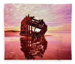 The Peter Iredale 2 Fleece Blanket