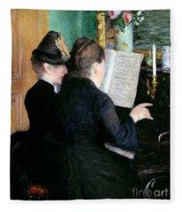 The Piano Lesson Fleece Blanket