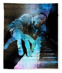 The Piano Man Fleece Blanket