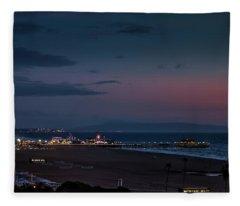 The Pier After Dark - 2 Fleece Blanket