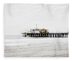The Pier - Overexposed Fleece Blanket