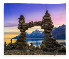 The Pillars Of The Earth Fleece Blanket