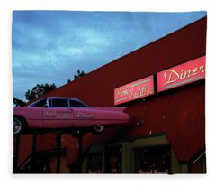 The Pink Cadillac Diner Fleece Blanket