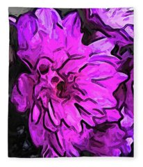 The Pink Flower With The Lavender Edges Fleece Blanket