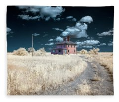 The Pink House In Halespectrum 1 Fleece Blanket
