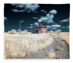 The Pink House In Halespectrum 1 Fleece Blanket