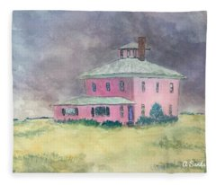 The Pink House Plum Island Fleece Blanket