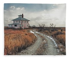 The Pink House Fleece Blanket