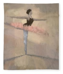 The Pink Tutu Fleece Blanket